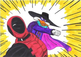 Deadpool vs Darkwing Duck by MichaelMorales
