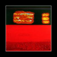 Abstract in Red And Black by admiringu