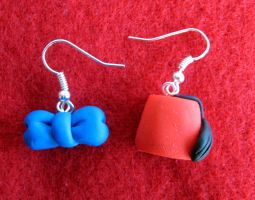 Fez and Bow Tie earrings by StregattaPuponzi