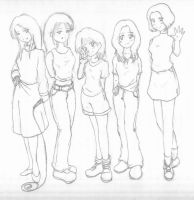 AnimeWaves gals, my rendition by psybustermk2