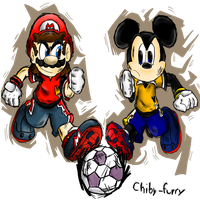 Two strikers charged by chiby-furry