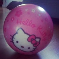Hello Kitty bowling ball by DinoSizeCupcake