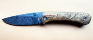 Damascus and Wild Olive Friction folder by LaCombre