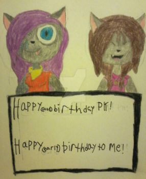 Happy birthday to me and pk! by kittygirl12316