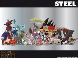 Oryu wall: Steel type by shinyscyther
