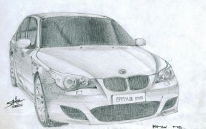 BMW 5 series Sketch by ShadyDesigns