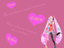 Kagami Kawaiine Kawaii Valentines Card! desu by EurousCattington
