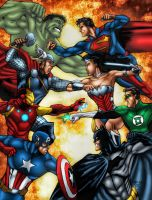 Avengers Vs. Justice League by MarcBourcier