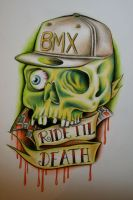 BMX Skull by itchysack