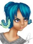Pouting little tentacle ears by PolyMune