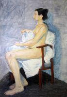 Girl in a Chair by Wideen