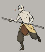 Shirtless Aang by river-bird