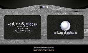 Mahyar Jewelery business card by arsalan-design