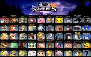 Super Smash Bros. Wii U/3ds  Prediction Roster by TNTyoshiART