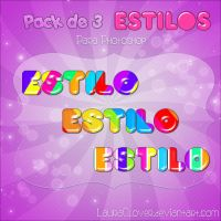 Pack de Estilos multicolor by LauraClover