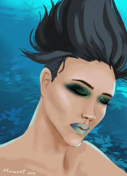 Underwater Portrait for a Mermaid by Hawoot