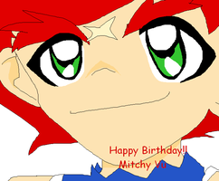 Happy late b-day mitchy vu by Ozuma-Sister
