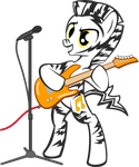 Zebra with Guitar by Cuthillius