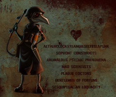 Dieselpunk Plague Doctor ID by Durandana
