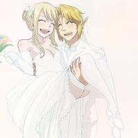 Request: Wedding of Link and Lucy by CarishinLove