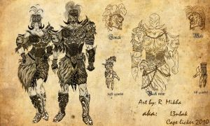 runescape concept armour by l3nbak