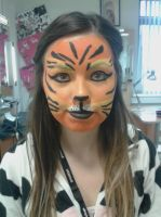 tiger face paint by Robertdowneyjrfan