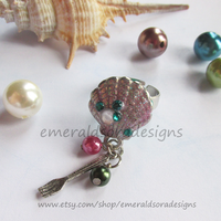 Enchanted Mermaid Charm Ring by EmeraldSora