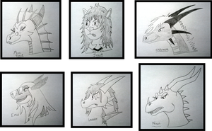 Female Headshot Sketches part 1 by Thornacious