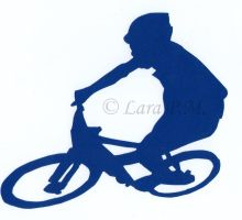 Mountainbiker Papercutting by karatechick13