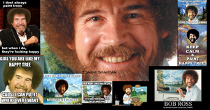 Bob Ross Collage by Zombie-Spartan