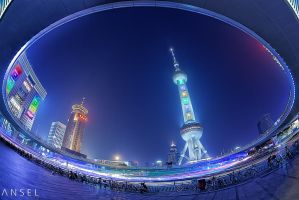 All along the Pearl Tower by Draken413o