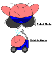 Kirbyformers 1 - Wheelie (ROTF) by Kirby-Force