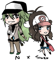N and Touko by Aka-Ai