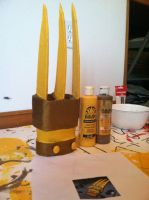 XS: Golden Tiger Claws WIP by Raif-San