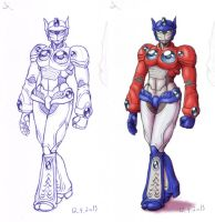 TF - organic fem!Optimus by merrypaws