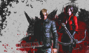 Leon and Ada wallpaper by VickyxRedfield