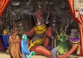 The Draconian Merchant by TeknicolorTiger