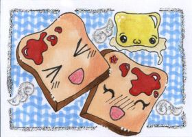 ACEO - Jelly Toasties by Himmelsblau