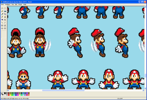 SMBHotS Mario Sprite Sheet 2015 Preview by KingAsylus91