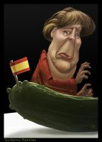 Angela Merkel caricature by GuillermoRamirez