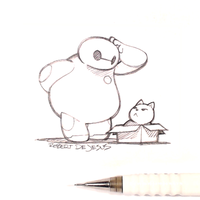 Baymax and Mochi by Banzchan