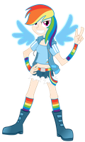 Human Rainbow Dash by blmn564