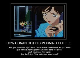 Conan's Morning Coffee by FoxyTeah