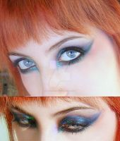 Make-up blue purple green by Dead-Rose-16