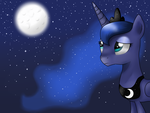 Sad Luna by zidanarsaramadan