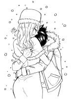 Gruvia - Lean on my warmth by honeyteacake