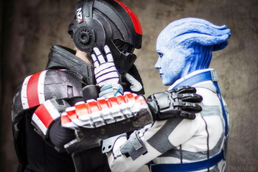 Liara and commander Shepard cosplay by ChrixDesign