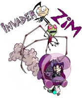 Invader ZIM- shirt design by AnnaMariaBryant