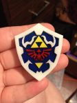 Hylian Shield Resin Pendant by MeeganUrufu