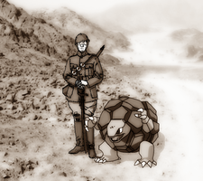 Sepia Wartime Pokemon Photo by PkmnOriginsProject